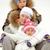 család · boldog · gyerekek · anya · ül · szánkó - stock fotó © pressmaster