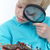 Cute · мало · мальчика · глядя · увеличительное · стекло - Сток-фото © pressmaster