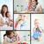 kollázs · kicsi · fiú · játszik · különböző · játékok - stock fotó © pressmaster