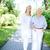 lopen · uit · samen · mooie · verpleegkundige · senior - stockfoto © pressmaster