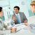 megbeszélés · üzletember · magyaráz · ötletek · alkalmazottak · üzlet - stock fotó © pressmaster
