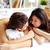 пару · кровать · гетеросексуальные · пары · спальня · вместе - Сток-фото © pressmaster