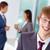 gelukkig · werknemer · vrolijk · zakenman · naar · camera - stockfoto © pressmaster