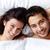 Ehemann · Ehefrau · glücklich · Bett · schauen - stock foto © pressmaster