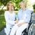 idősebb · beteg · beszél · nővér · visel · kórház - stock fotó © pressmaster