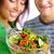молодым · человеком · еды · вегетарианский · Салат · аппетит · дома - Сток-фото © pressmaster