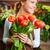 frischen · Tulpen · Porträt · jungen · weiblichen · Blumengeschäft - stock foto © pressmaster