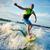 été · jeune · homme · eau · mer · Skyline - photo stock © pressmaster