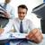 trabalhar · responsável · contador · financeiro · relatórios · parceiros · de · negócios - foto stock © pressmaster