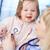 estatica · felice · piccolo · ragazza · cute - foto d'archivio © pressmaster
