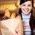 wesoły · kobieta · produktu · brunetka · supermarket - zdjęcia stock © pressmaster