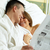 romantische · ochtend · echtpaar · bed · vrouw · man - stockfoto © pressmaster