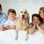 felice · giovani · famiglia · labrador · riposo · parco - foto d'archivio © pressmaster