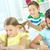 幸せ · 女子学生 · 教室 · 座って · デスク · 小学校 - ストックフォト © pressmaster