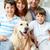 famille · heureuse · souriant · caméra · chien · femme - photo stock © pressmaster