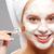 適用 · マスク · 顔 · 女性 · 小さな · 美人 - ストックフォト © pressmaster