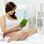 lettura · letto · foto · bella · donna · incinta · libro - foto d'archivio © pressmaster