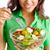 mulher · mão · garfo · preparado · dietético - foto stock © pressmaster