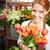 bastante · florista · retrato · jóvenes · femenino · rojo - foto stock © pressmaster