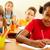 рисунок · Одноклассники · портрет · девушки · школы · образование - Сток-фото © pressmaster