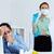 medir · gripe · imagem · empresário · enfermeira - foto stock © pressmaster