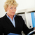 volwassen · zakenvrouw · portret · glimlachend · document - stockfoto © pressmaster
