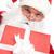 открытие · фото · Дед · Мороз · открытых · красный - Сток-фото © pressmaster