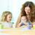 gelukkig · kinderen · spelen · verf · meisje · handen · kinderen - stockfoto © pressmaster