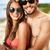 verano · retrato · feliz · jóvenes · fechas · playa - foto stock © pressmaster
