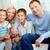 joyeux · portrait · de · famille · famille · heureuse · rire · femme · homme - photo stock © pressmaster