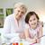 genegenheid · portret · gelukkig · meisje · grootmoeder · vergadering · home - stockfoto © pressmaster