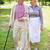 piedi · insieme · felice · anziani · parlando - foto d'archivio © pressmaster