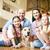 cute · rodziny · domowych · labrador · stwarzające · uśmiechnięty - zdjęcia stock © pressmaster