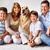 członek · szczęśliwą · rodzinę · psa · człowiek · portret · chłopca - zdjęcia stock © pressmaster