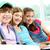 amigos · retrato · três · sessão · juntos · olhando - foto stock © pressmaster