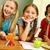 счастливым · школьницы · смеясь · вместе · сидят · домой - Сток-фото © pressmaster