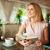 довольно · молодые · Lady · сидят · кафе · чтение - Сток-фото © pressmaster