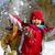 зима · радости · счастливым · друзей · играет · снега - Сток-фото © pressmaster