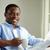 Guy · journal · image · jeunes · africaine · homme - photo stock © pressmaster