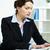 ocupado · secretario · retrato · exitoso · mujer · de · negocios · de · trabajo - foto stock © pressmaster