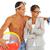 odrzucenie · portret · topless · facet · bilety · piłka - zdjęcia stock © pressmaster