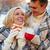 блондинка · белый · Кубок · молодые · кафе · мало - Сток-фото © pressmaster