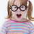 geek · portret · dziewczyna · funny · okulary - zdjęcia stock © pressmaster