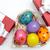 Пасху · представляет · угол · окрашенный · яйца - Сток-фото © pressmaster