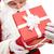 удивление · фото · счастливым · Дед · Мороз · глядя · красный - Сток-фото © pressmaster
