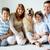 együttlét · portré · boldog · család · bolyhos · labrador · férfi - stock fotó © pressmaster