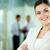 ビジネス · 女性 · 肖像 · 笑みを浮かべて · ビジネス女性 · 見える - ストックフォト © pressmaster