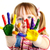 Creative · девочку · краской · центр - Сток-фото © pressmaster