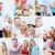 kollázs · szülők · gyerekek · otthon · nő · mosoly - stock fotó © pressmaster