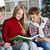alegre · criança · leitura · interessante · livro · verão - foto stock © pressmaster
